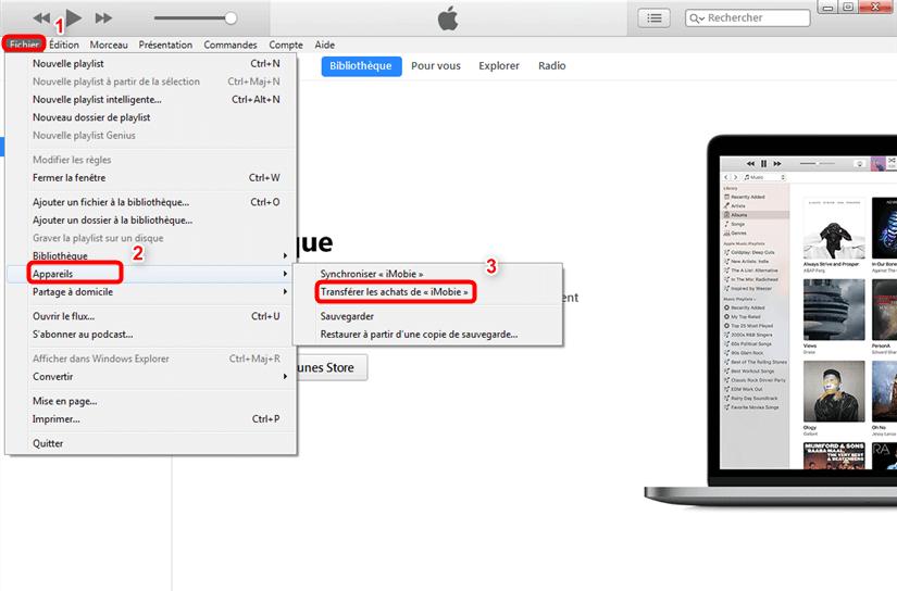 Comment extraire de la musique iPod vers Mac avec iTunes