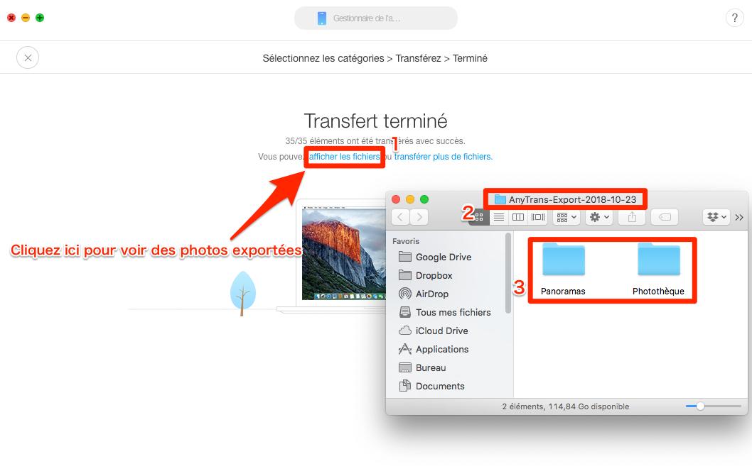Comment importer des photos d'iPhone vers Mac