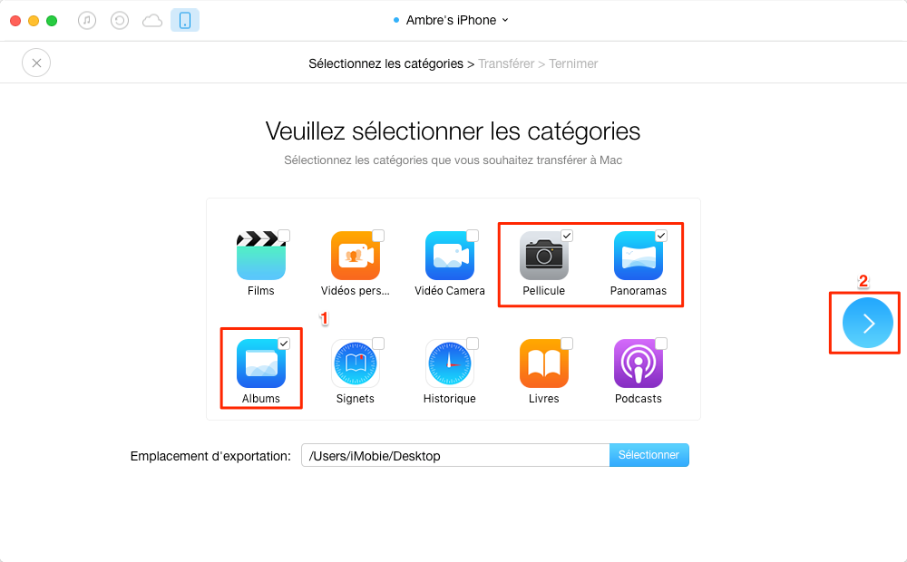 Comment transférer photos iPhone vers Mac sans iTunes
