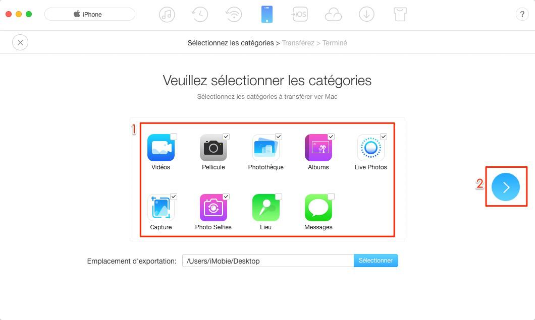 Comment transférer photos iPhone vers Mac sans iTunes