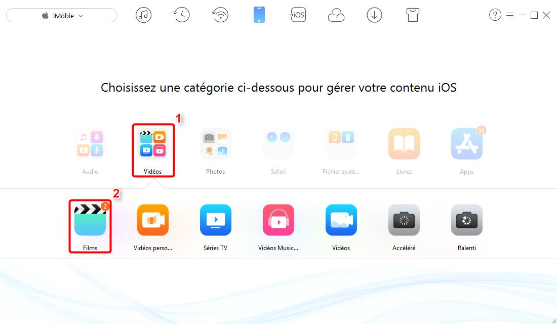 Envoyer des vidéos iPhone vers PC – étape 2