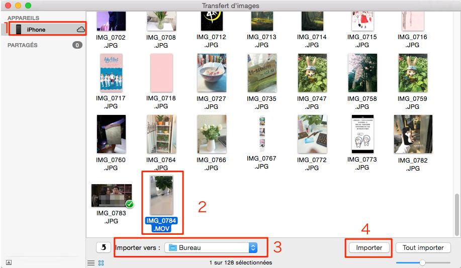 Comment envoyer des vidéos iPhone 4/5/6/7/SE vers PC/Mac