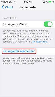 Sauvegarde iCloud