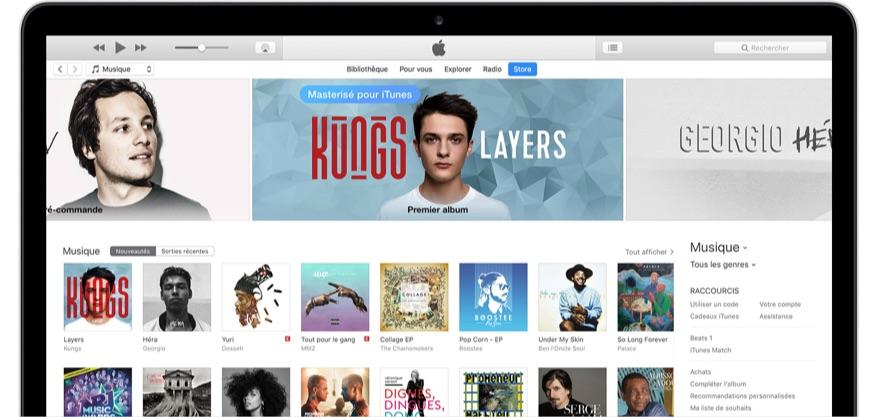 icone d'iPhone est disparu sur iTunes