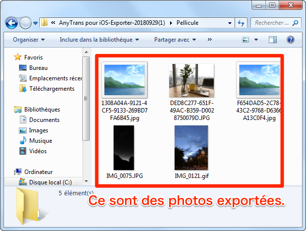Comment importer les photos sur iPhone vers PC sans iTunes – étape 3