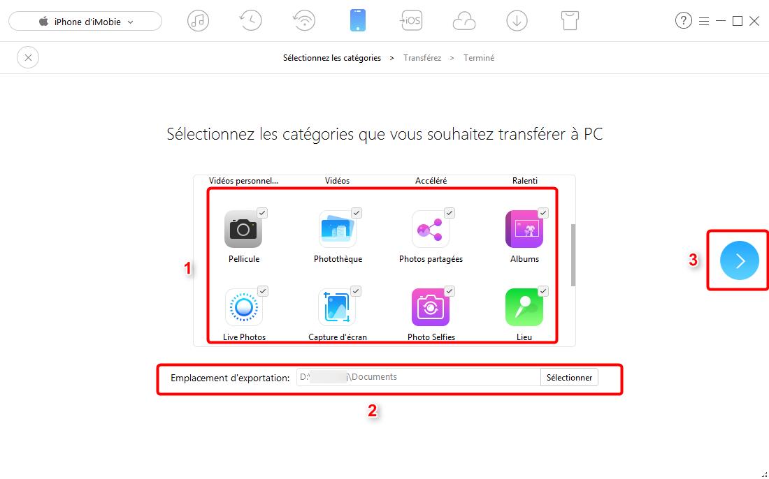 Comment importer les photos iPhone vers PC – étape 2