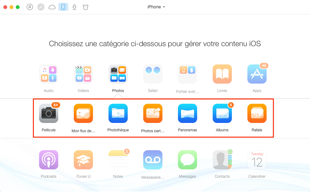 Importer les photos iPhone vers PC