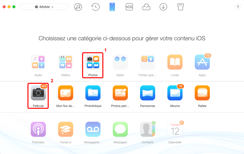 Importer les photos à partir d'un iPhone sur Mac – étape 2