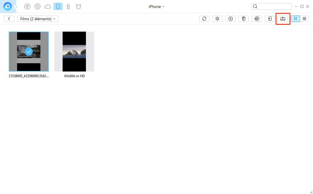 Synchroniser les vidéos d'iPhone vers ordinateur Windows directement – étape 3
