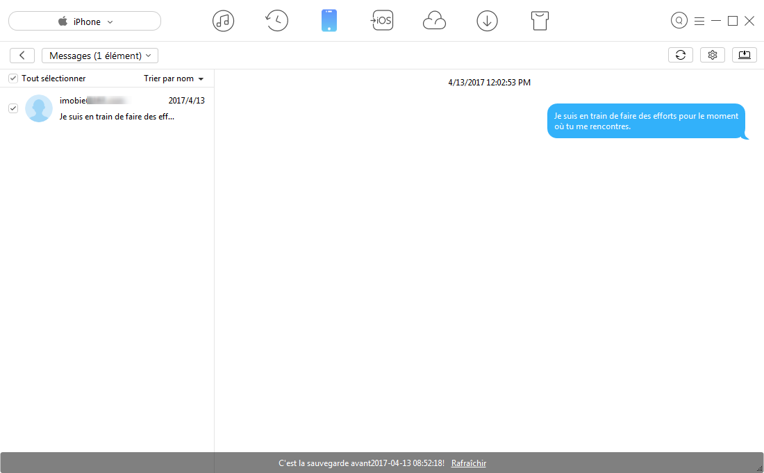 Transfert des iMessages de l'iPhone vers Mac