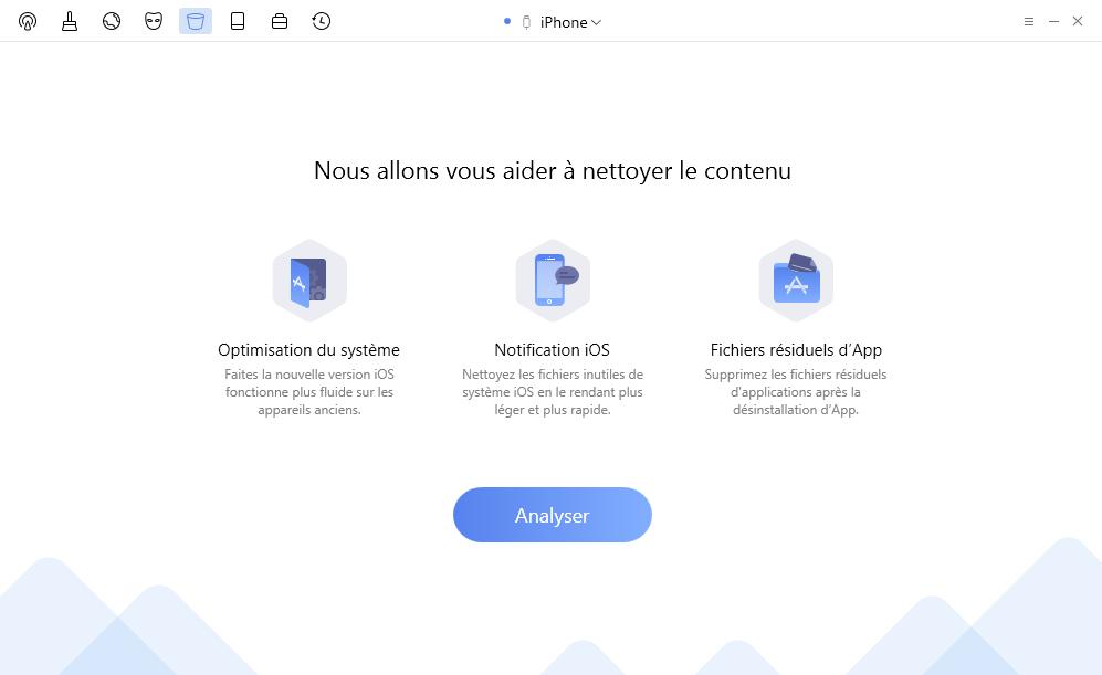 Nettoyer votre appareil iOS avec PhoneClean