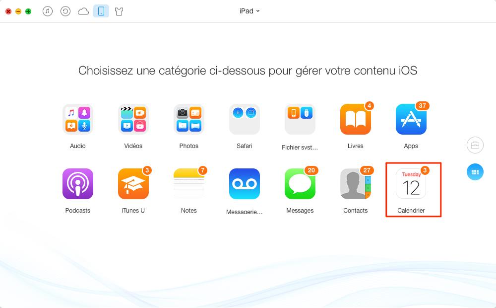 Imprimer les calendriers depuis votre iPad – étape 2