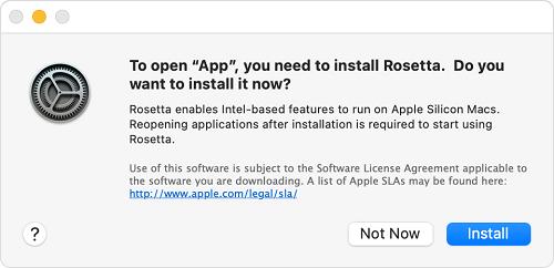 Installer Rosetta