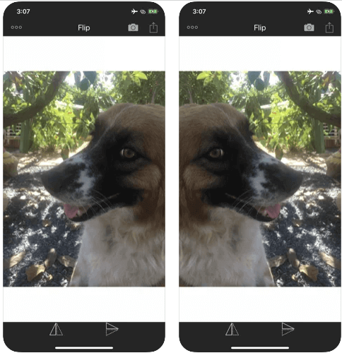 Inverser photo iPhone