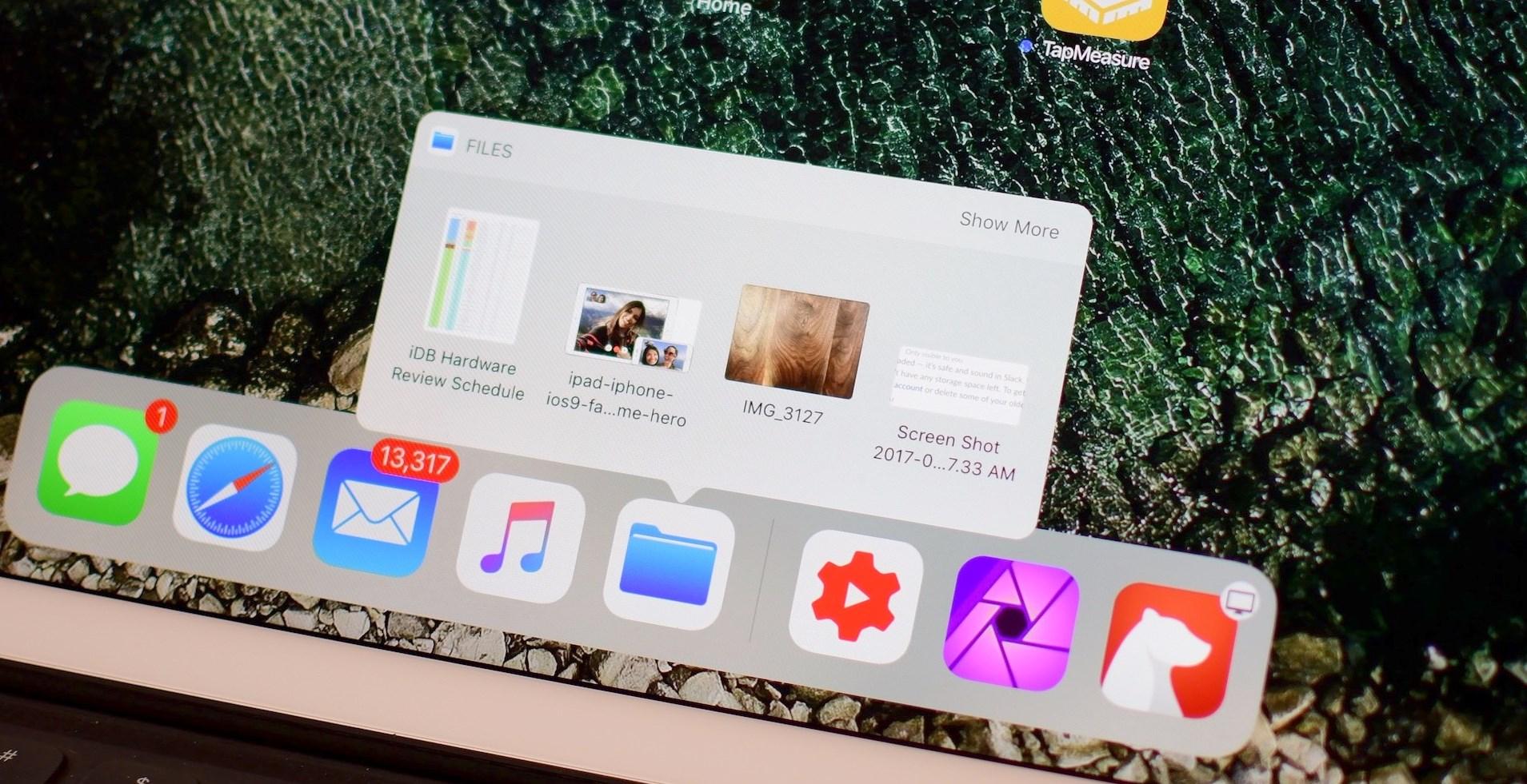 Utiliser le Dock sur iPad sous iOS 11