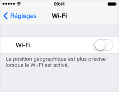 Comment activer le bouton Wi-Fi grisé d'iPhone 4s 1