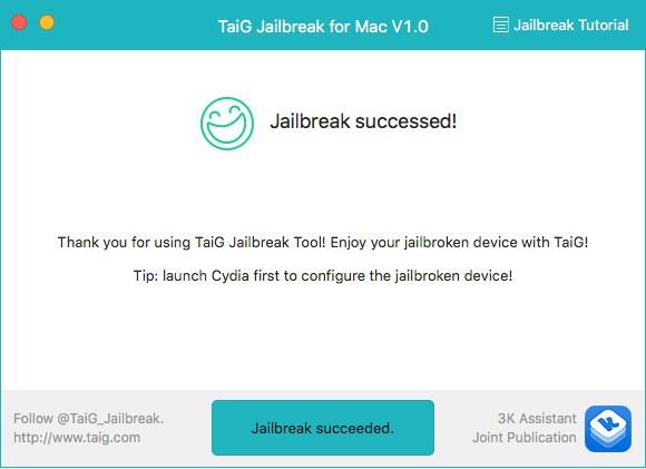 Jailbreak iOS 10/10.1.1/10.2 avec TaiG