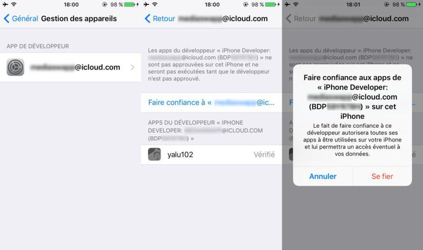 Jailbreak iPhone 7 Plus iOS 10.1.1 avec Yalu102