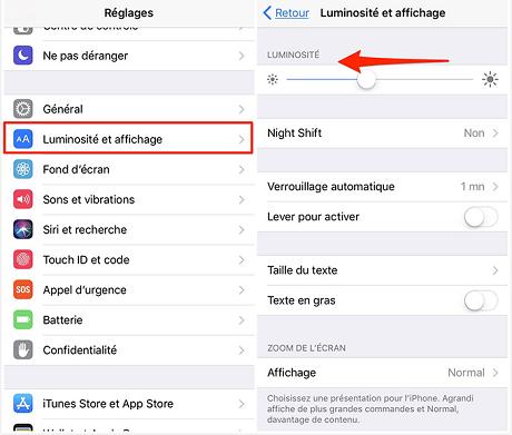 Solutions sur iPhone se décharger vite