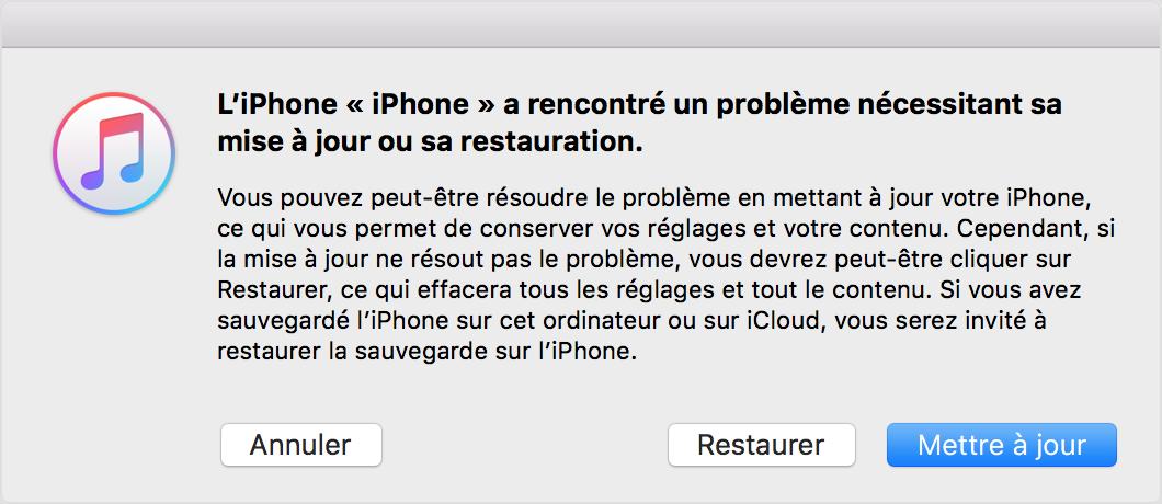 Réparer l'iPhone bloqué sur le logo Apple – étape 3
