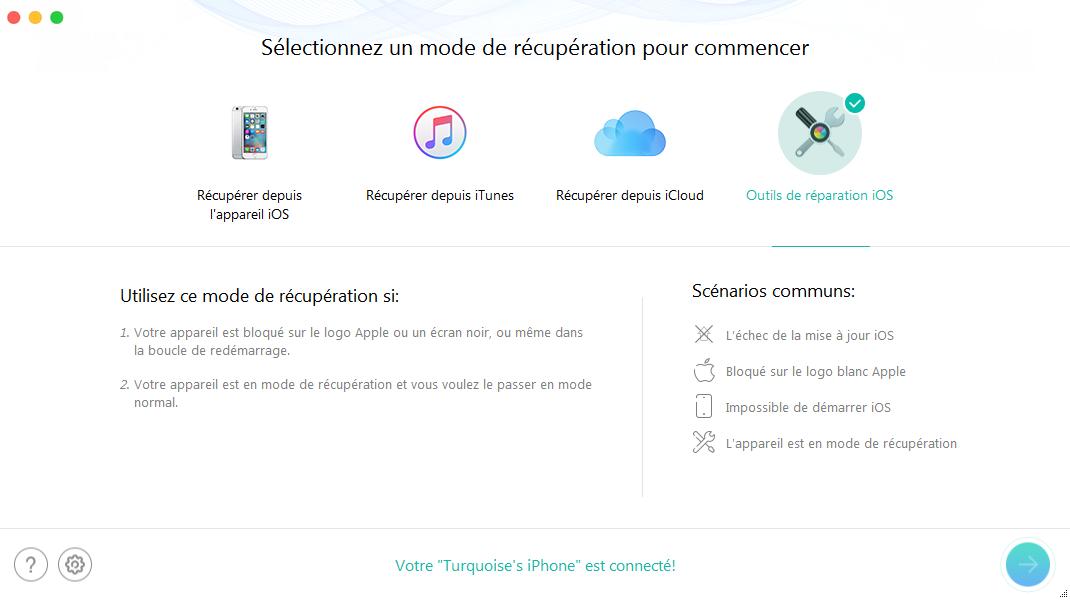 Comment débloquer l'iPhone sans perdre le contenu – étape 2