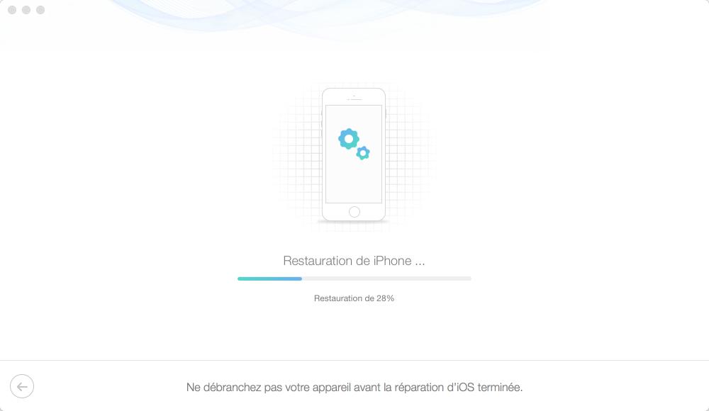 Moyen de réparer l'iPhone bloqué sur pomme – étape 5