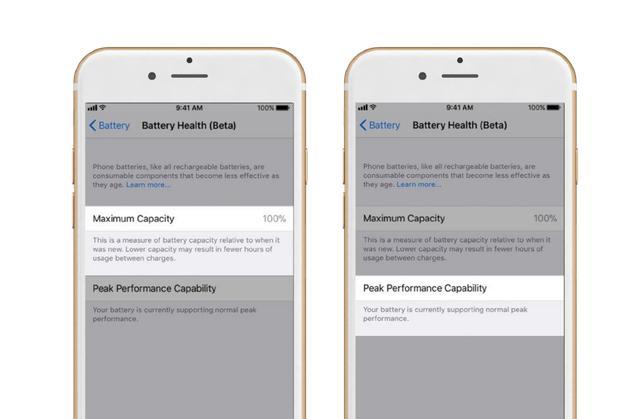 L'état de la batterie iOS