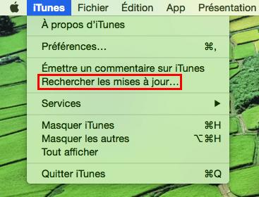 Mettre à jour d' iTunes sur Mac