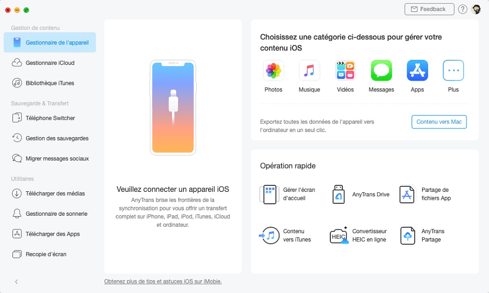 Lancez AnyTrans pour iOS