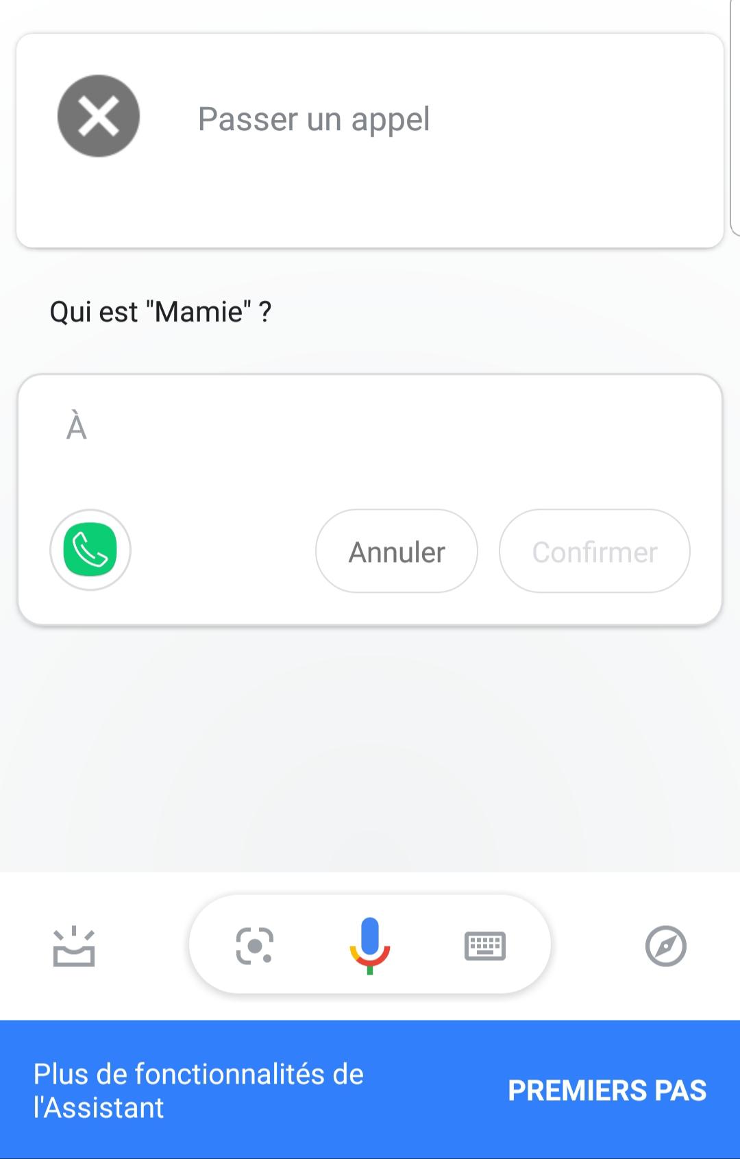 Le menu de Google Now