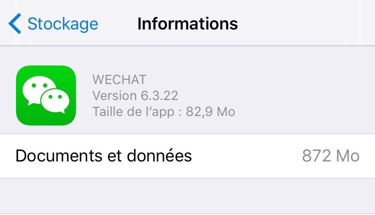libérer plus de stockage iOS 10 – Supprimer caches d'apps