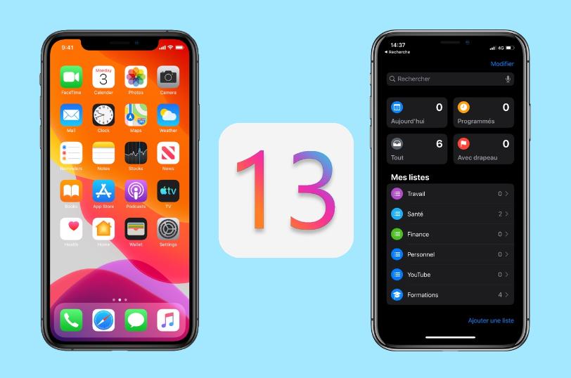 Le nouveau système iOS 13.2