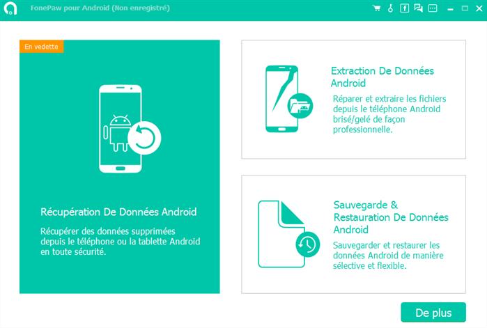 Top 5 logiciels de récupération de données Android - FonePaw