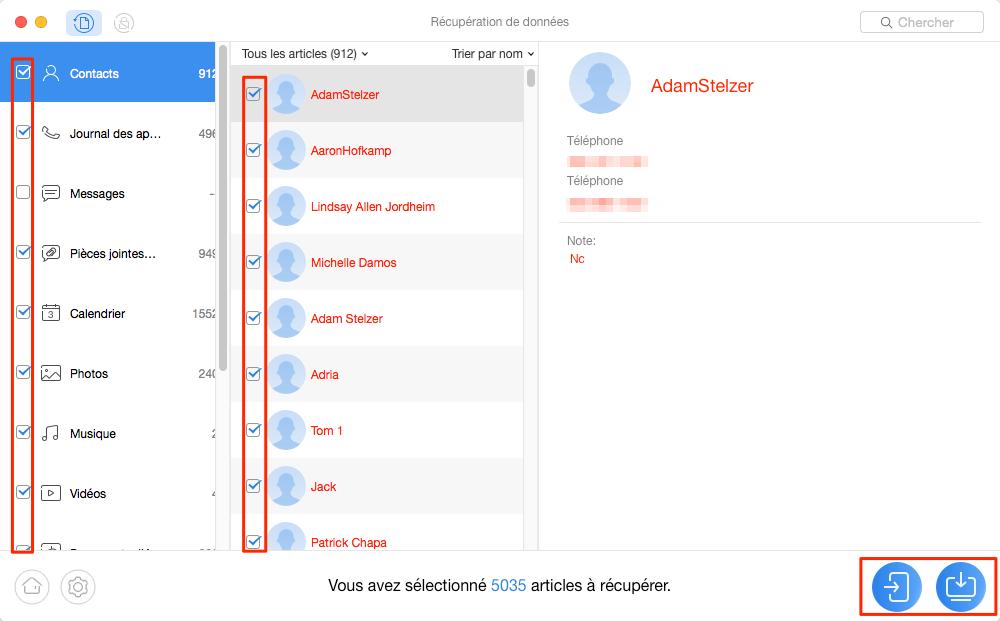 Logiciel de récupération de données Android – étape 3