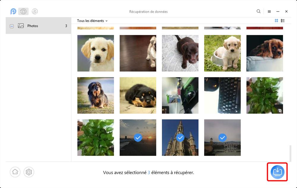 Logiciels de récupération de photos Android – étape 3