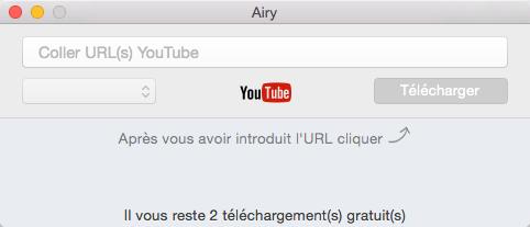 Télécharger les vidéos YouTube via Airy