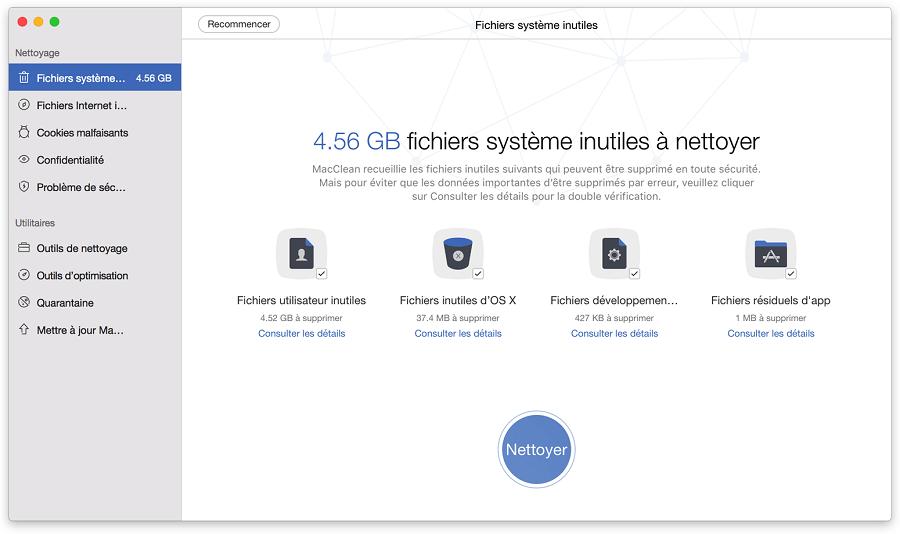Supprimer les fichiers inutiles pour accélérer votre Mac