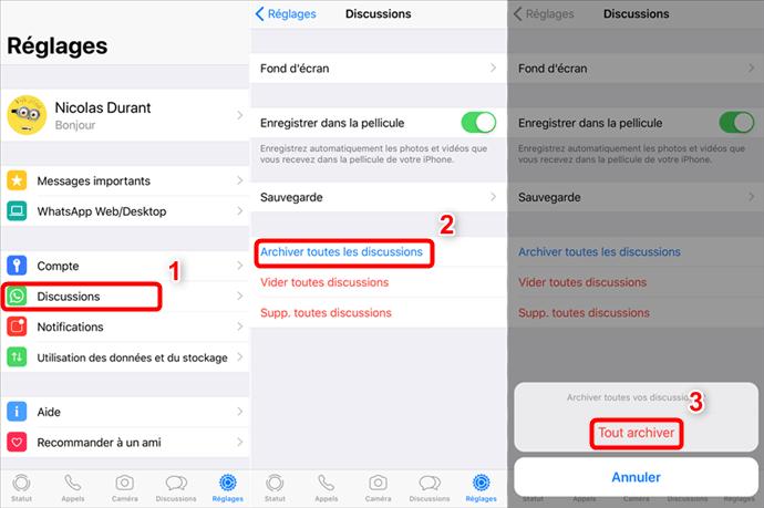 Comment masquer la conversation WhatsApp sur iPhone