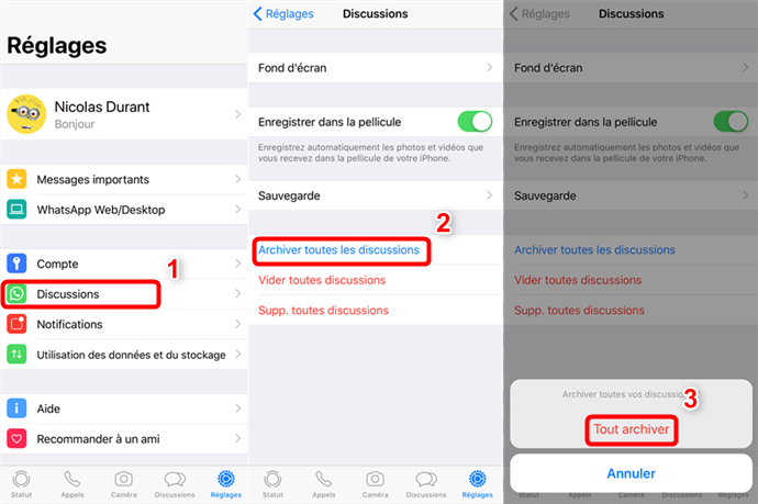 Comment masquer la conversation WhatsApp sur iPhone