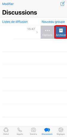 Masquer toutes les conversations WhatsApp sur le téléphone
