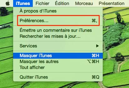 Convertir musiques en MP3 dans iTunes