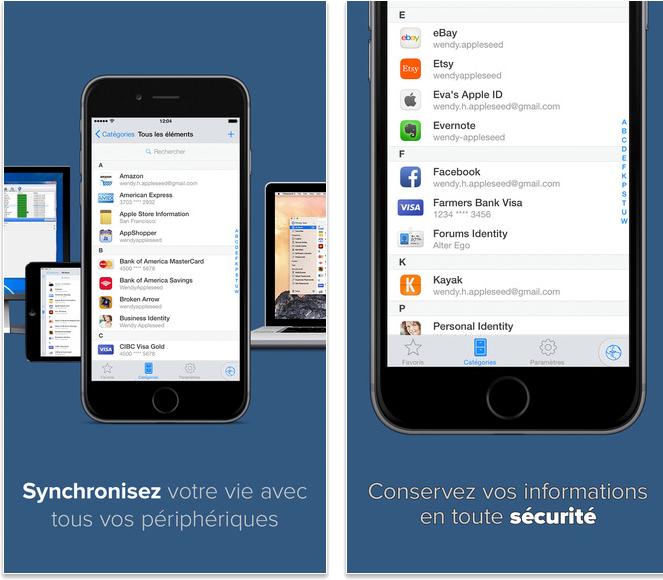 Meilleures applications pour iPhone 6/6s - 1Password