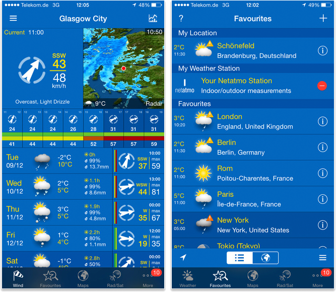 Meilleures applications pour iPhone 6/6s - WeatherPro