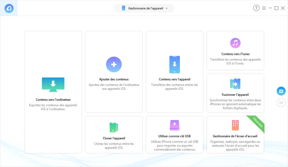 AnyTrans pour iOS – Outil puissant du transfert