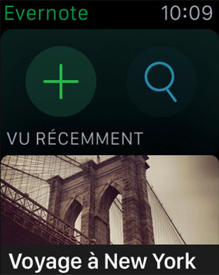 Meilleures apps pour Apple Watch – Evernote