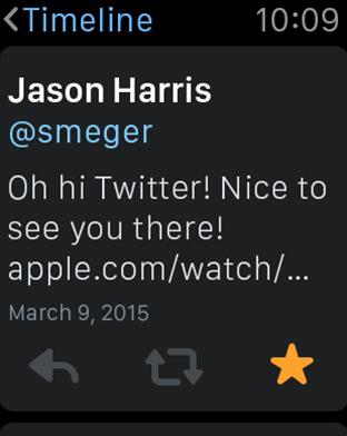 Meilleures apps pour Apple Watch – Twitter