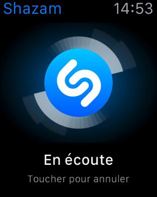 Meilleures apps pour Apple Watch – Shazam