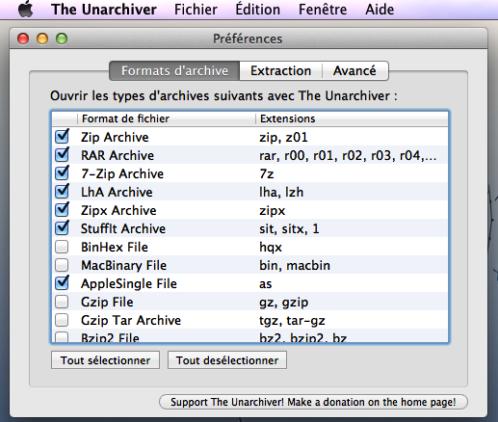 Meilleures Apps pour El Capitan - Unarchiver