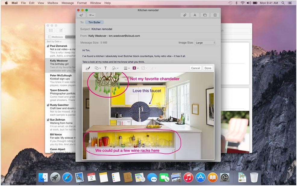 Nouvelle fonctionnalité de Mac OS X 10.10 - Courrier