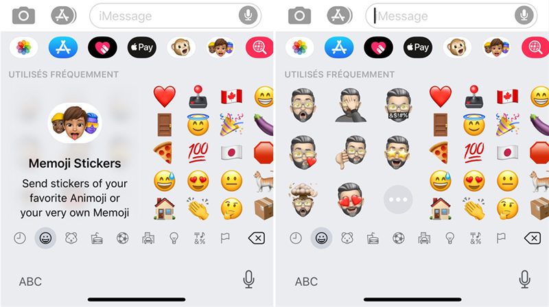 Memoji iOS 13 sur iPhone 11